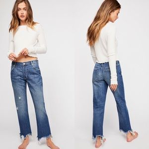 NWT Free People Maggie Mid-Rise Straight Leg Jeans